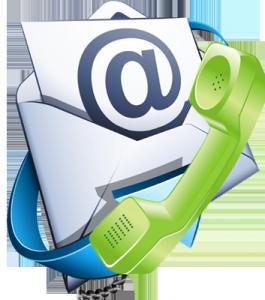 контакты - телефонная трубка и письмо